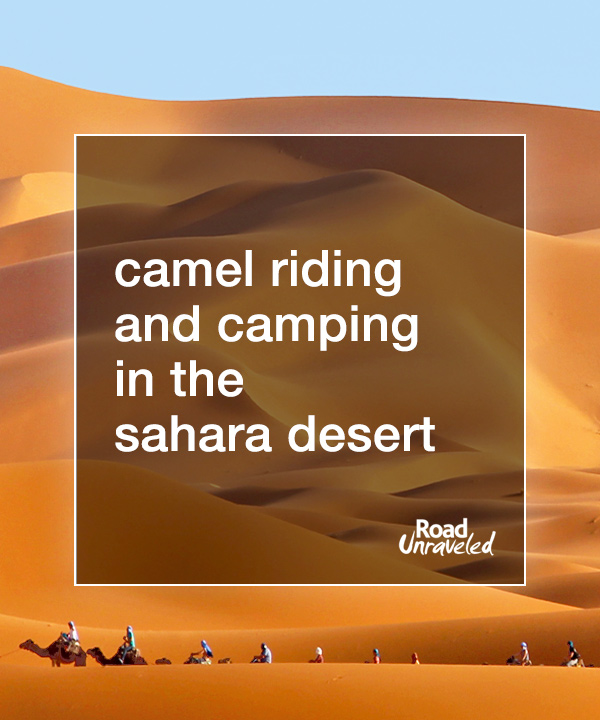Camel Trekking and Desert Camping in the Sahara