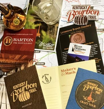 Pamphlets from the Kentucky Bourbon Trail