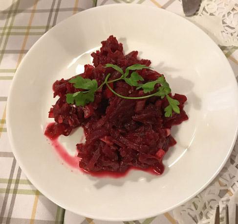 Buraczki, Polish beet salad