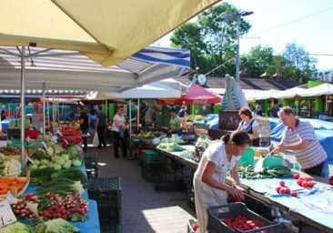 Food markets in Krakow