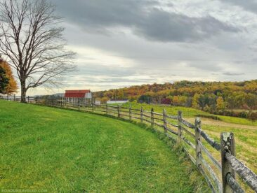 Mount Bleak farm in Sky Meadows State Park, Virginia.