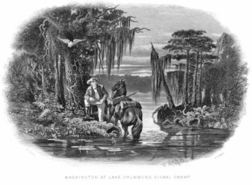 George Washington at Lake Drummond, Dismal Swamp