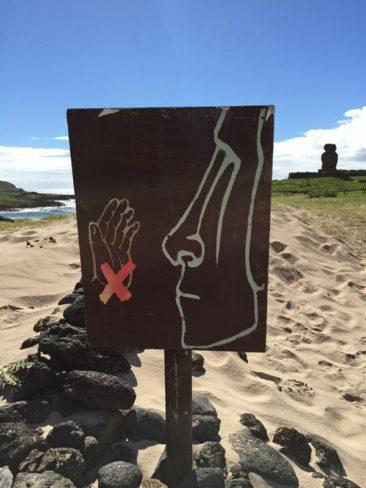 Don't smack the Moai!