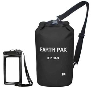 Waterproof Roll Top Dry Compression Bag with Waterproof Phone Case