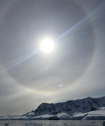 Sun halo in Antarctica