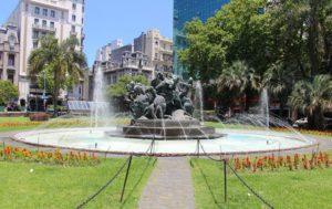 Plaza del Entrevero in Montevideo, Uruguay