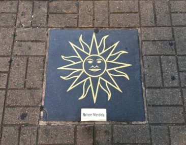 Nelson Mandela on the Montevideo Walk of Fame