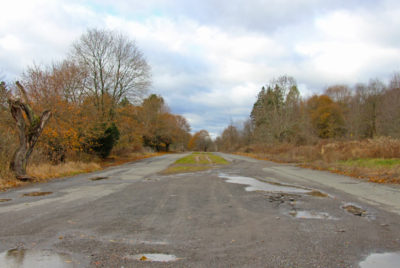 Abandoned roads in Centralia