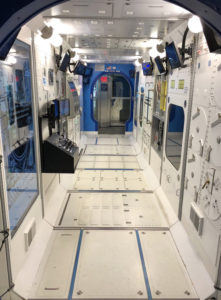 Replica of the inside of the International Space Station