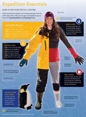 Antarctica Cruise Gear (via Quark Expeditions)