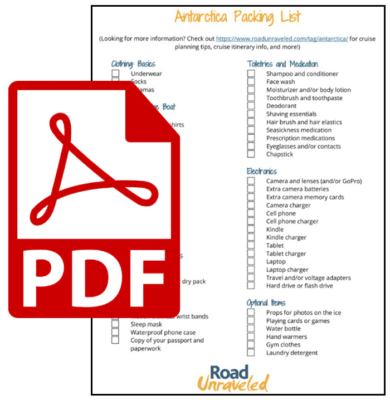 Download our Antarctica Packing List as a PDF!