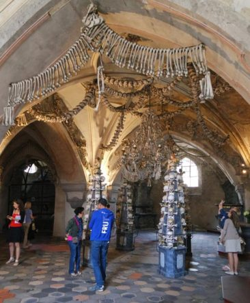 Inside the Bone Church/Sedlec Ossuary