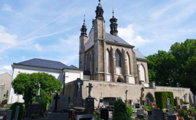 Outside view of the Bone Church