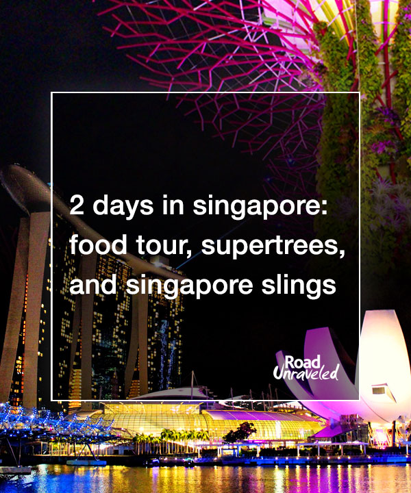 2 Days in Singapore: Food Tour, Supertrees, and Singapore Slings