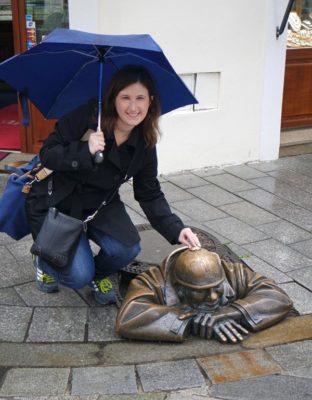Cumil statue in Bratislava