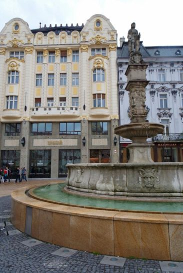 Beautiful fountain in Bratislava