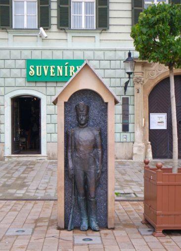Soldier Statue in Old Town Bratislava's Main Square