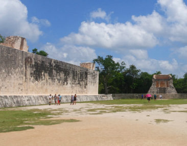 The ball court at Chichen Itza
