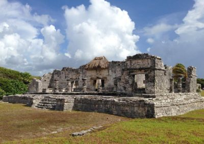The Temple of the Descending God in Tulum, Mexico