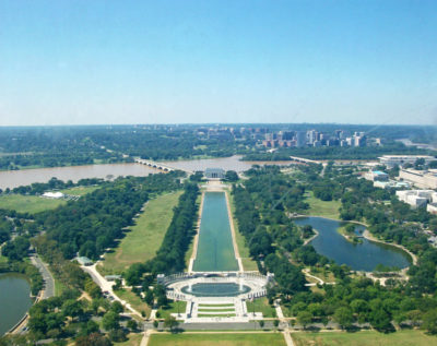 The view from the top of the Washington Monument in DC