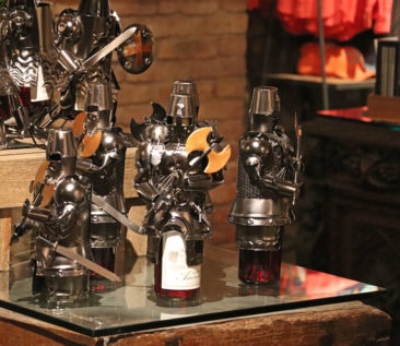 Turn your wine bottle into a Knight? At Castello di Amorosa you can.