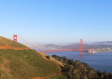 The view from the second Golden Gate view point