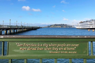 Sign at the San Francisco pier