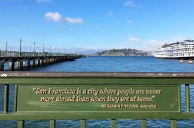 Sign at the San Francisco pier