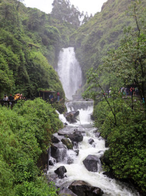 Cascada de Peguche waterfall