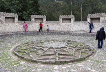 Solar Calendar at the Peguche waterfall
