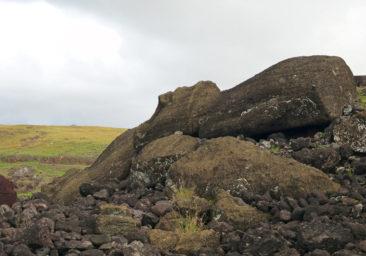 Ahu Akahanga Moai ruins on Easter Island