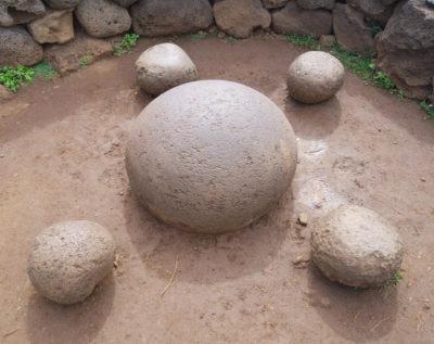 Ahu te pito kura stones on Easter Island