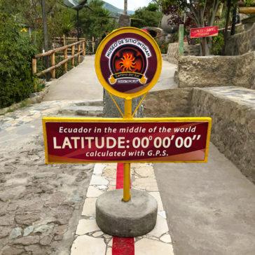 The equator line at the Intiñan Solar Museum