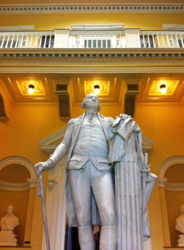 George Washington Statue in the Virginia Capital Building