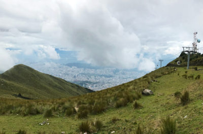 Teleferiqo view of Quito