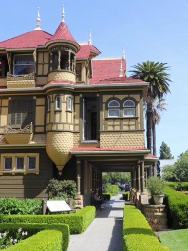 Door to nowhere in the Winchester Mystery House