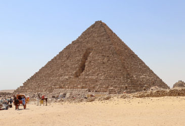 One of the Pyramids with stones removed