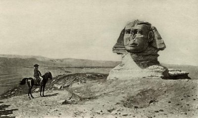 Napoleon at the Sphinx painting from the 1800s