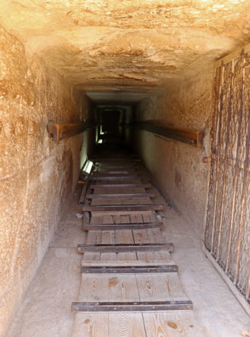 A tunnel leading to the inside of the Pyramid