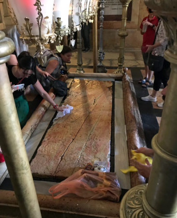The Stone of Anointing in the Church of the Holy Sepulchre