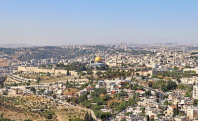 View of Temple Mount from Mount Scopus