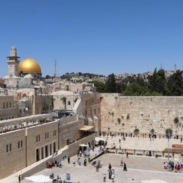 The Western Wall or Wailing Wall in Jerusalem