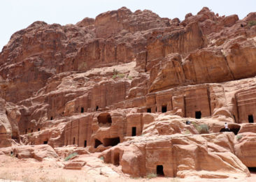 Stone caves in Petra