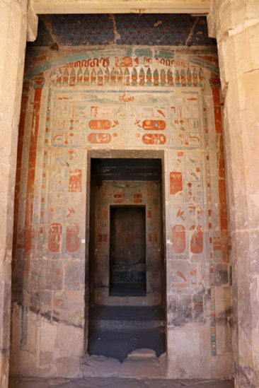 Hieroglyphics at the Temple of Hatshepsut