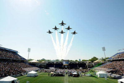 Fly over during the Naval Academy Graduation - photo via Wikipedia