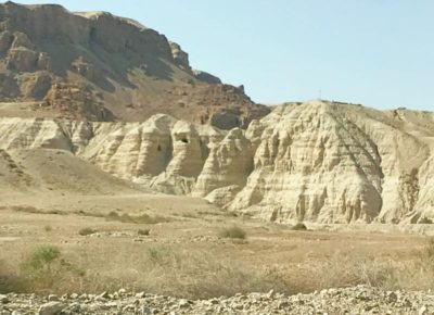 The caves where they found the Dead Sea Scrolls
