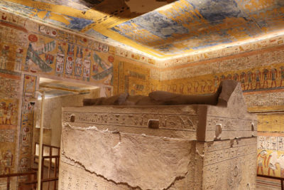 Ramses IV's tomb in the Valley of the Kings
