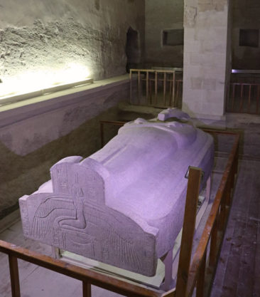 Merenptah's sarcophagus in the Valley of the Kings