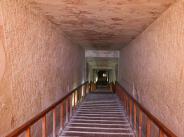 Tunnel into Merenptah's tomb in the Valley of the Kings