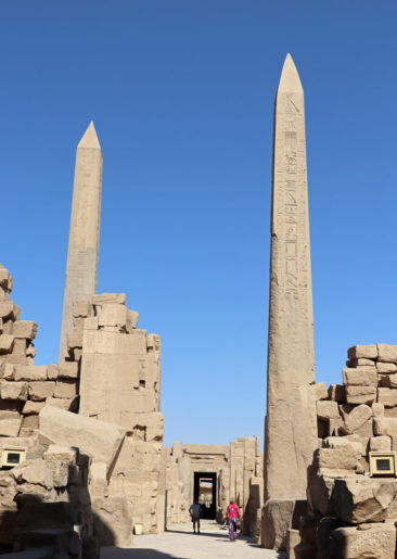 Obelisks at the Temple of Karnak